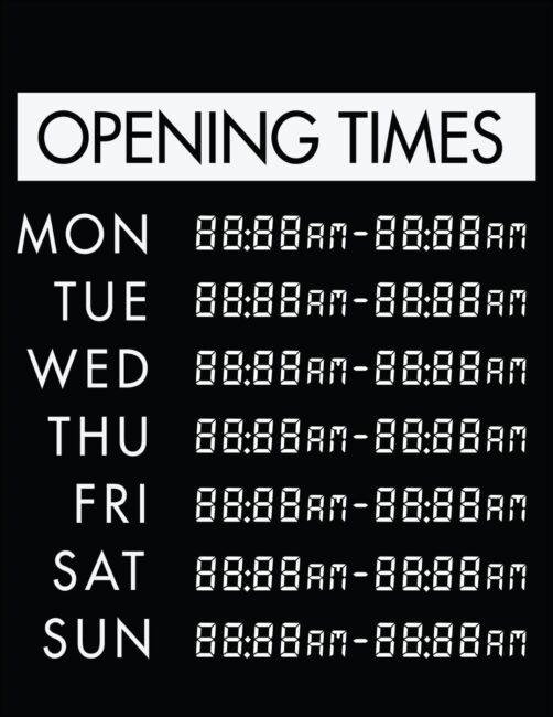 Printable business hours of operation sign 6