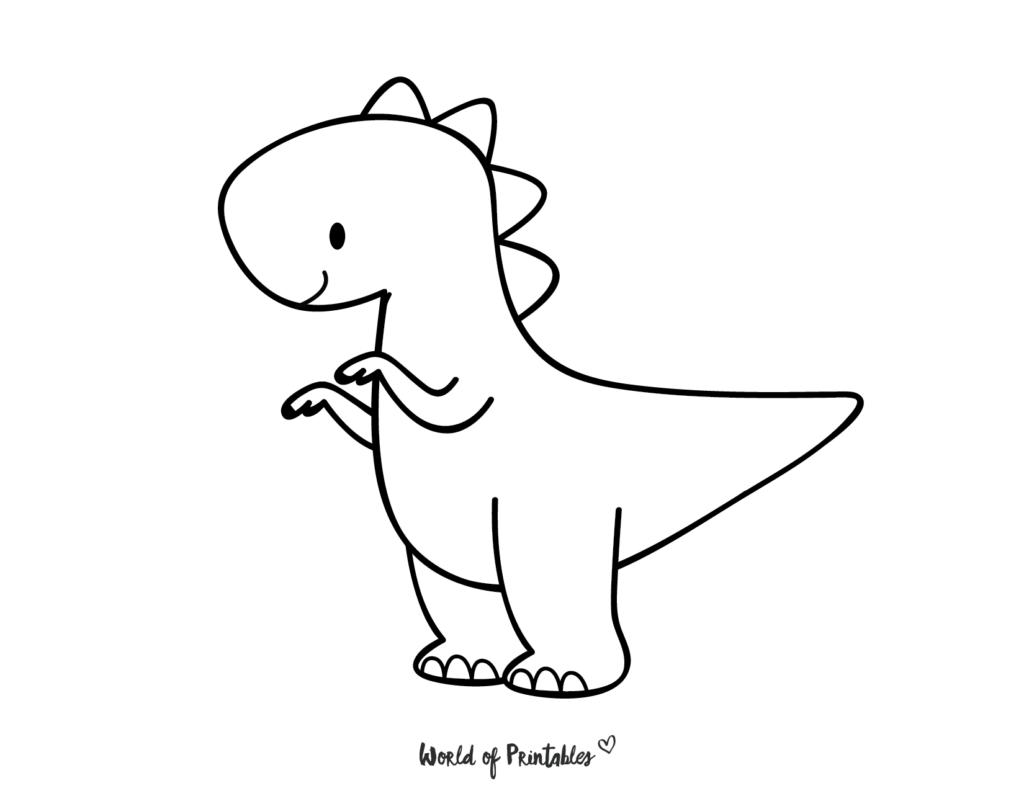 T Rex Dinosaur Coloring Page
