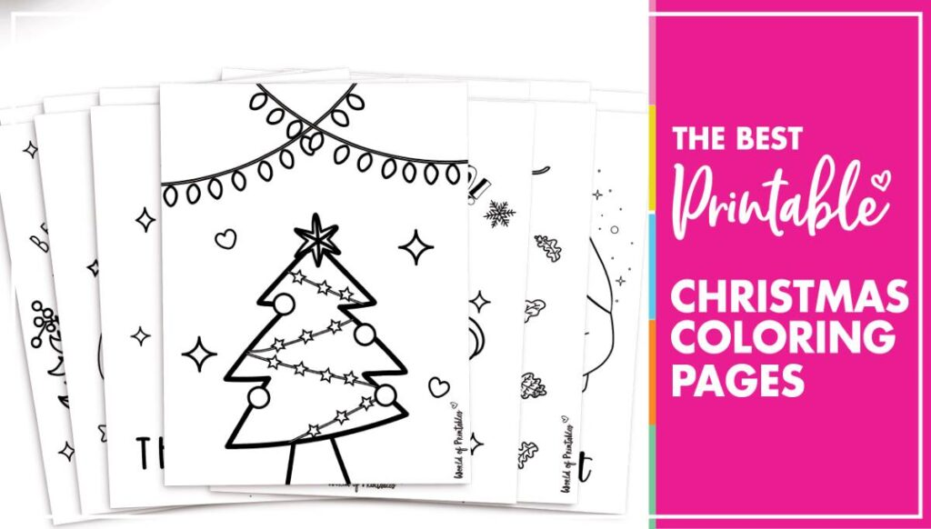 The Best Christmas Coloring Pages