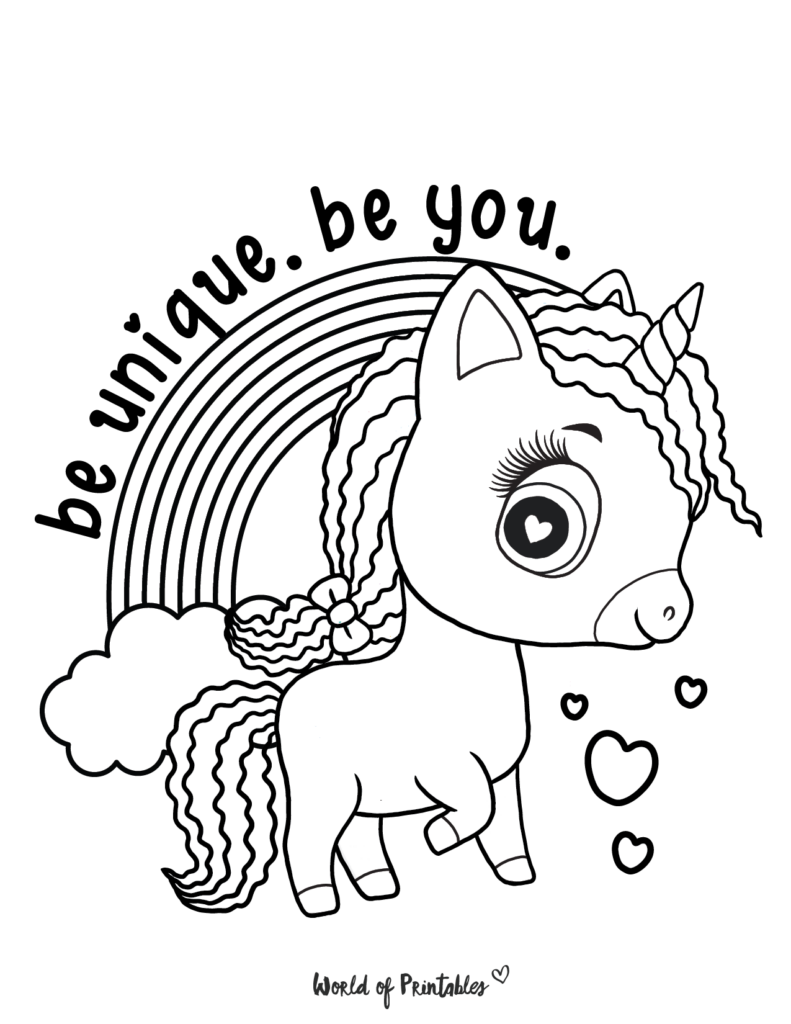 Unicorn Coloring Page 10