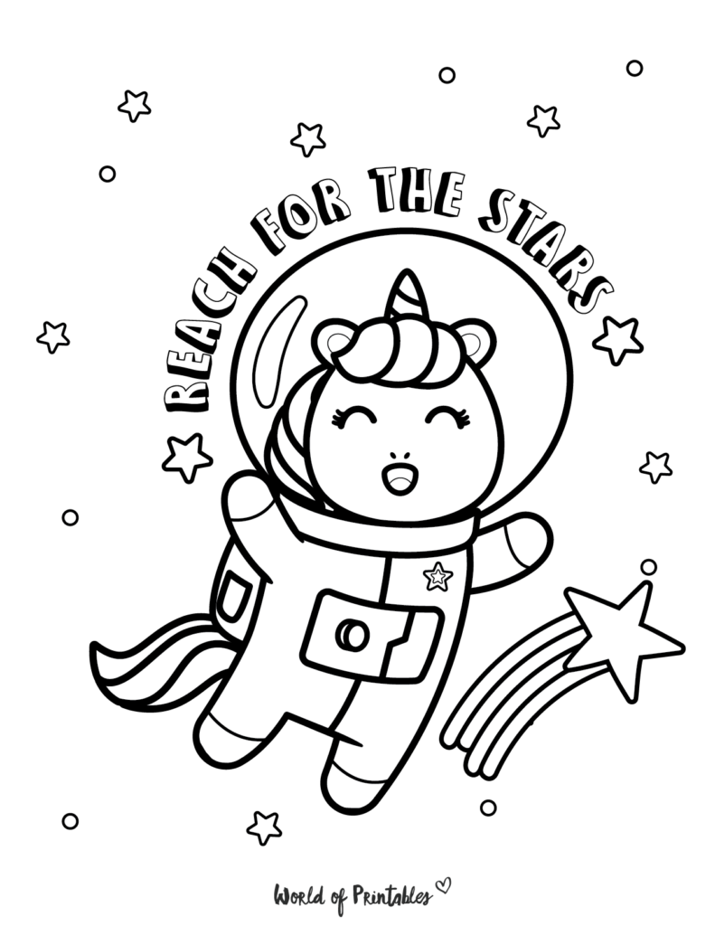 Unicorn Coloring Page 11