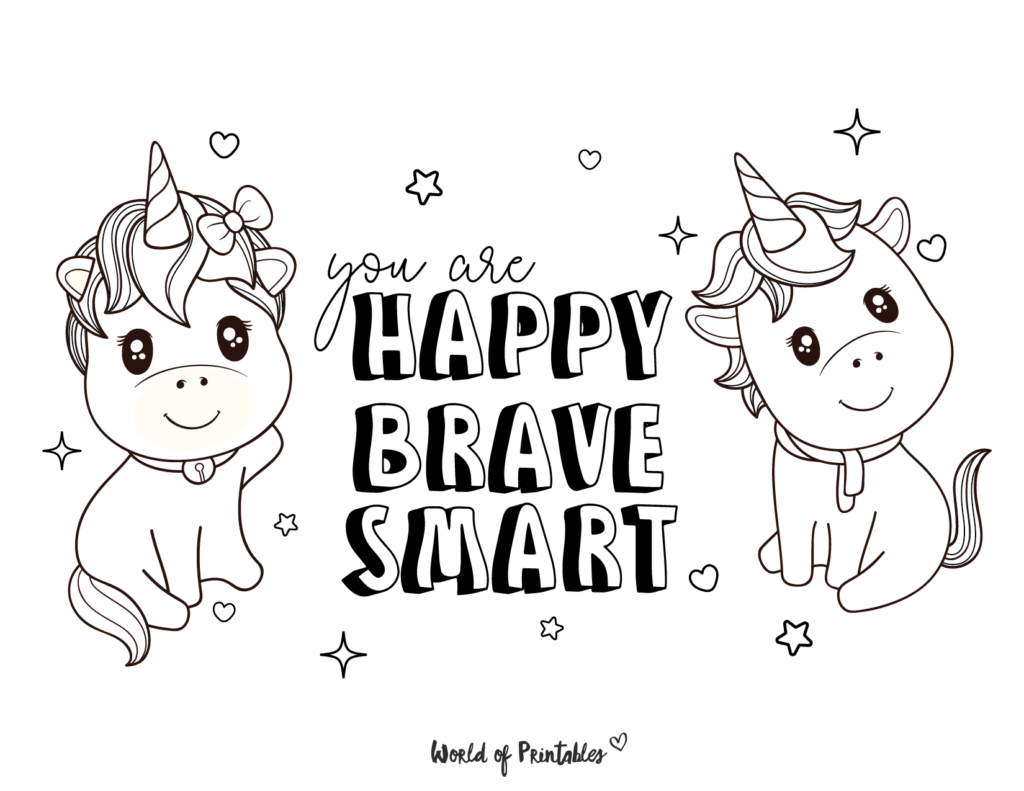 Unicorn Coloring Page 12
