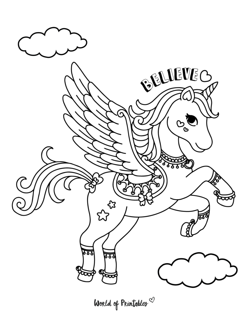 Unicorn Coloring Page 15