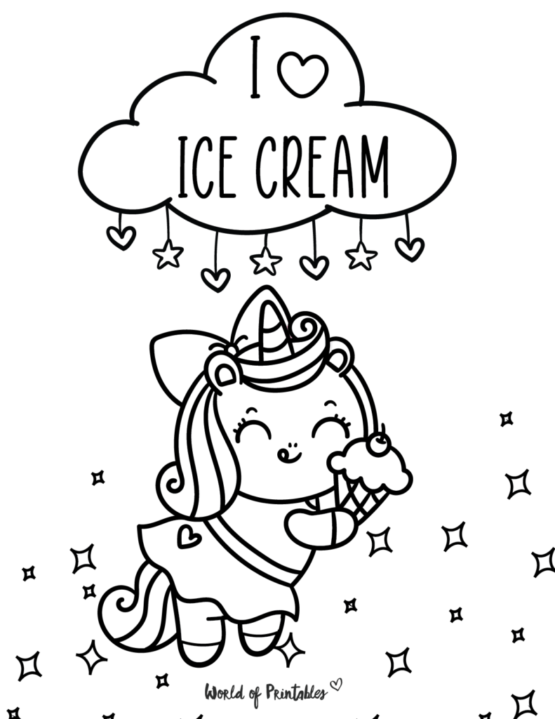 Unicorn Coloring Page 17