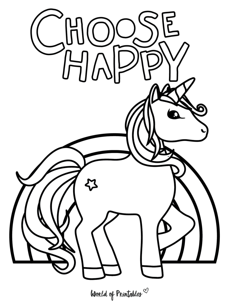 Unicorn Coloring Page 20