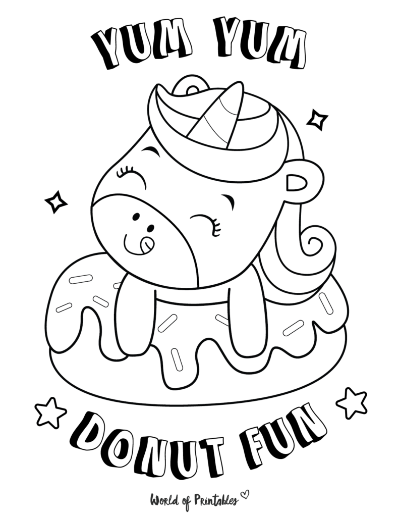 Unicorn Coloring Page 5