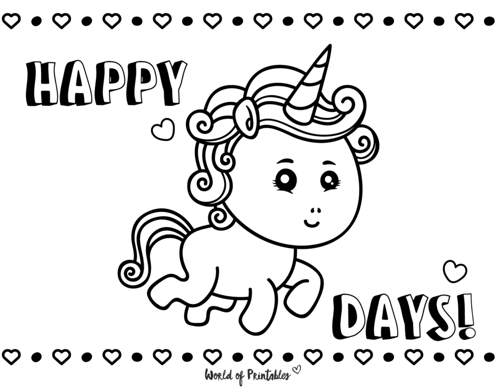 Unicorn Coloring Page 8