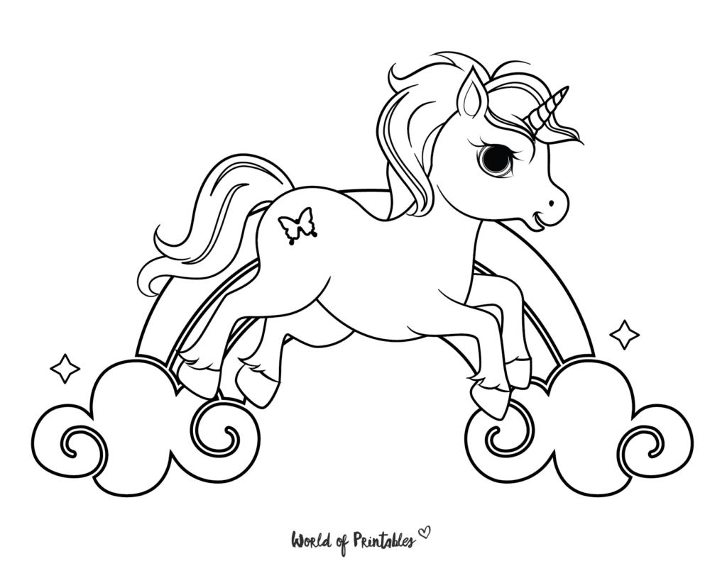 Unicorn Coloring Sheet 4