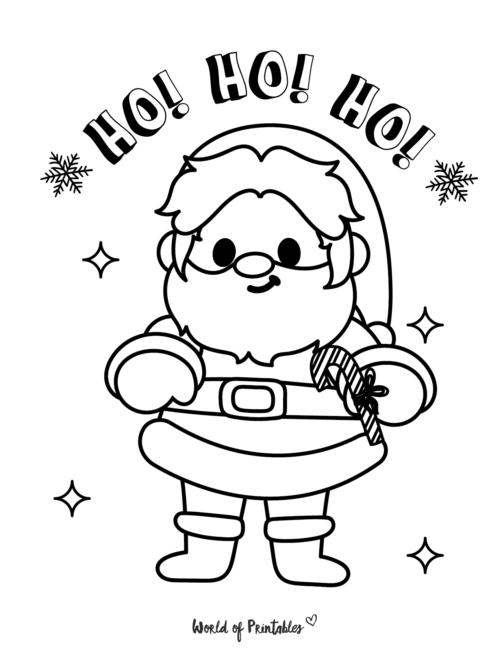 Christmas Santa Claus coloring page
