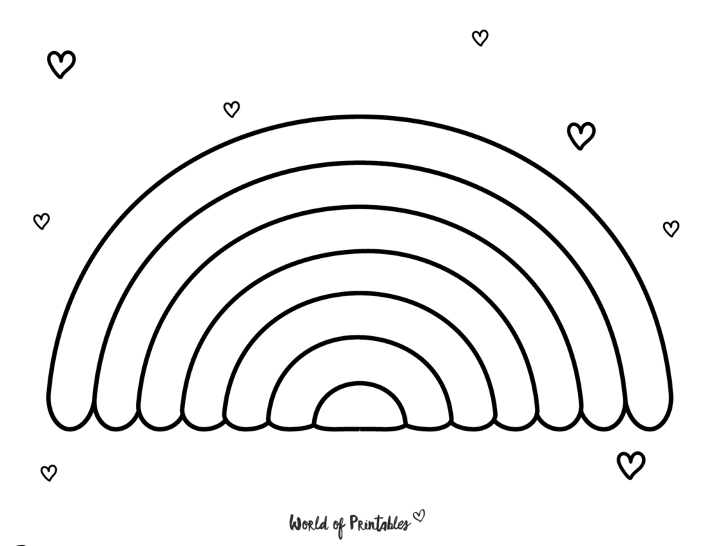 free rainbow coloring pages 25