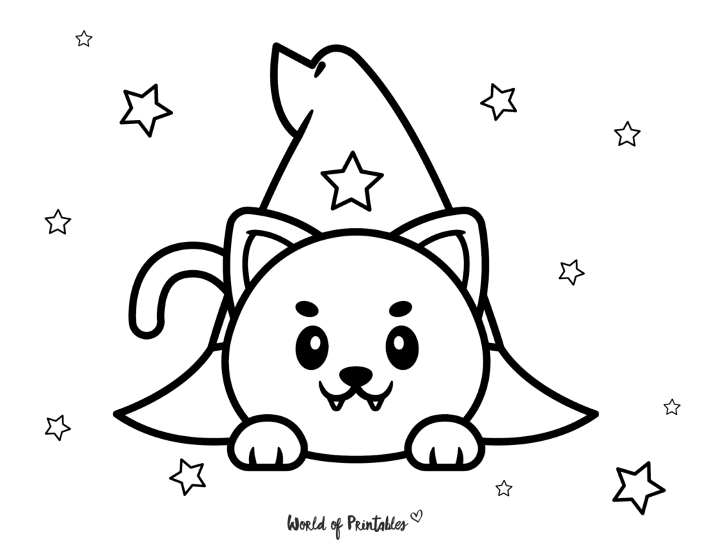 Halloween Coloring Page 1