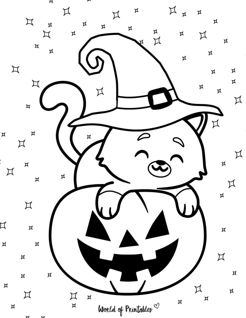 Pumpkin Halloween Coloring Page
