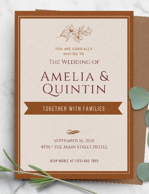 printable boho wedding invitation template