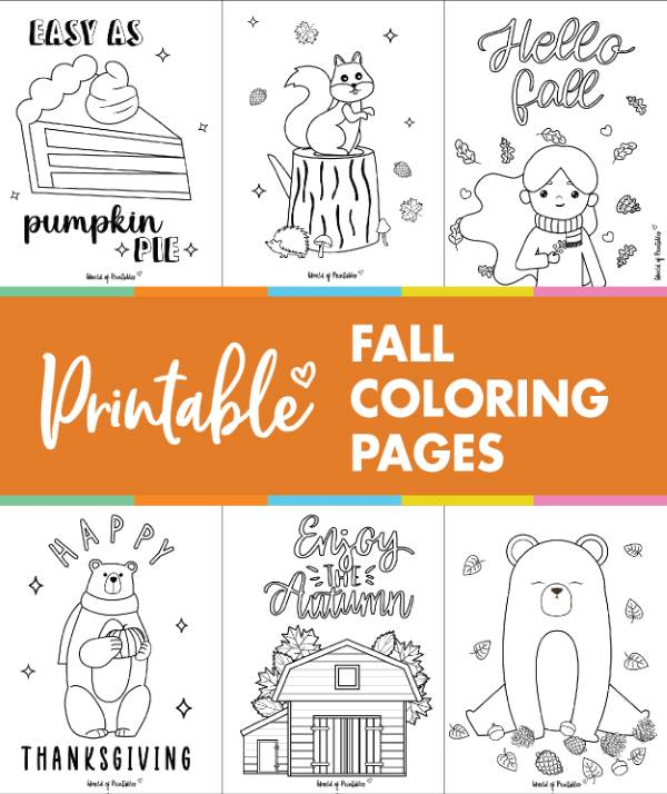 printable fall coloring pages sheets