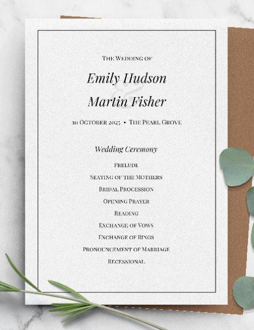 printable formal wedding invitation template