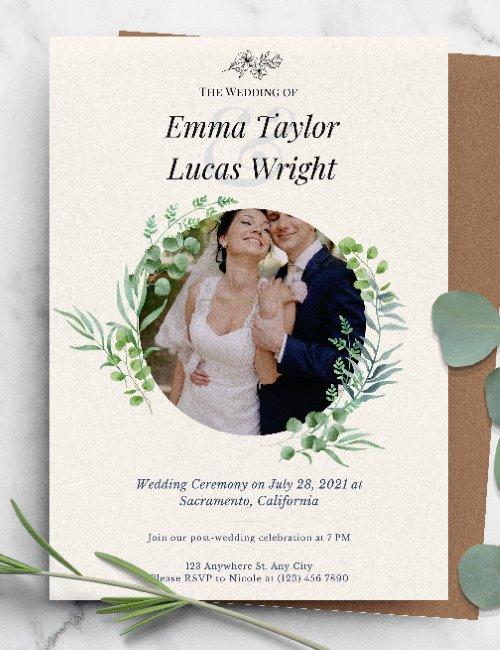 printable photo frame wedding invitation template