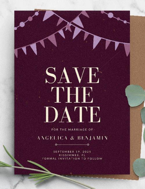 printable save the date wedding invitation template