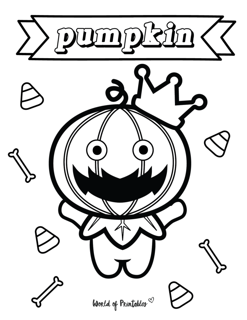 Pumpkin Halloween Coloring Sheet