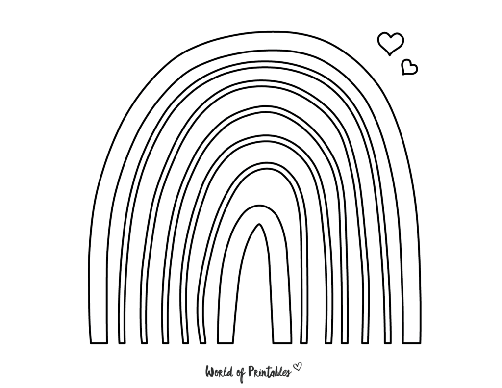 rainbow coloring page 11