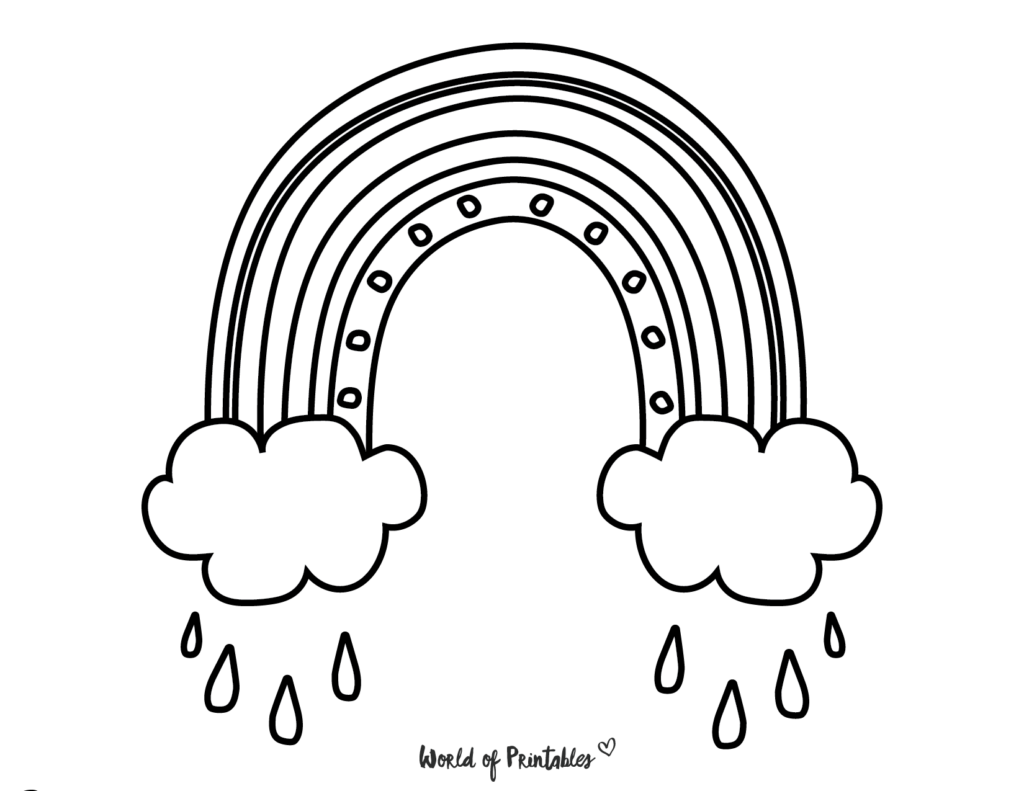 rainbow coloring page 18