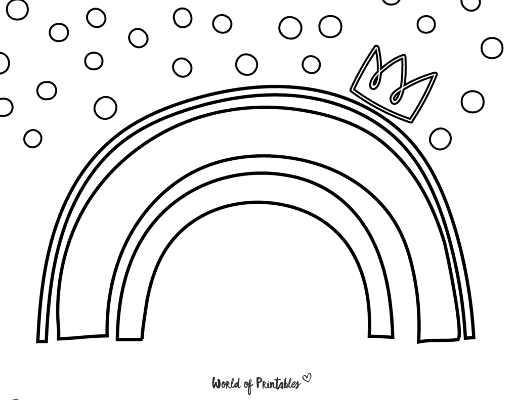 rainbow coloring page 20