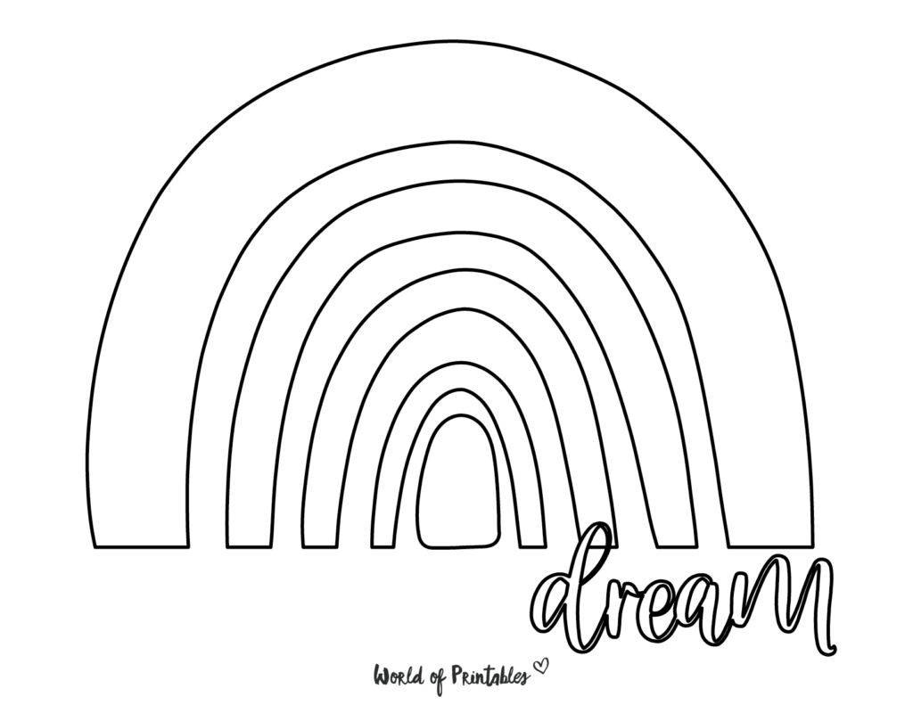 rainbow coloring pages 12