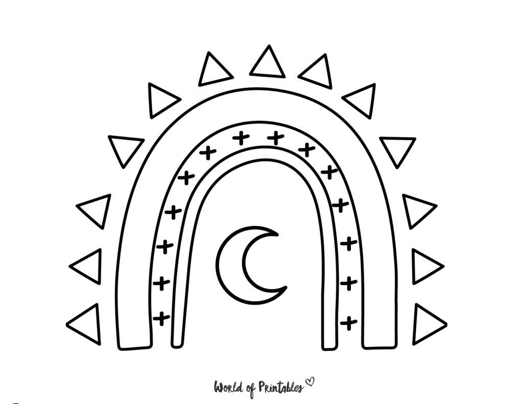rainbow coloring pages 21