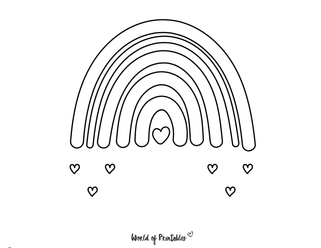 rainbow coloring pages 23