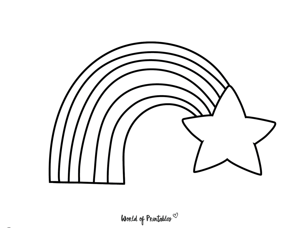 rainbow coloring pages 24