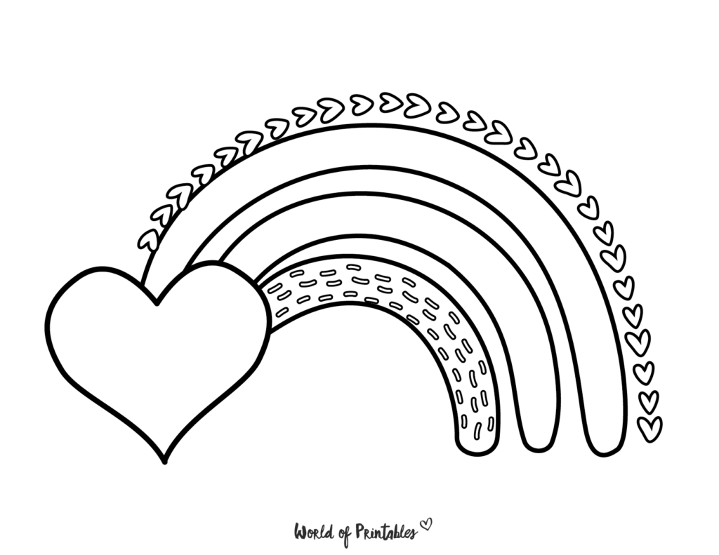 rainbow coloring pages 28