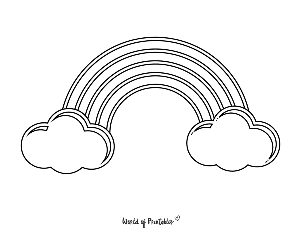 rainbow coloring pages 32