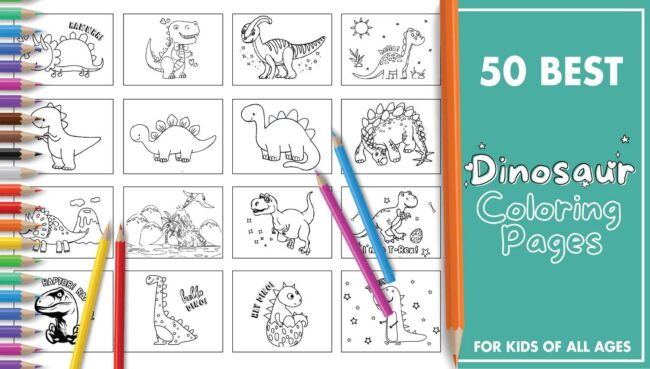 50 Best Dinosaur Coloring Pages