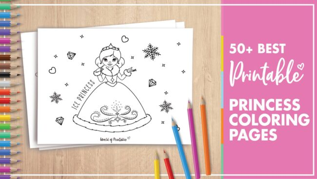 Best Princess Coloring Pages