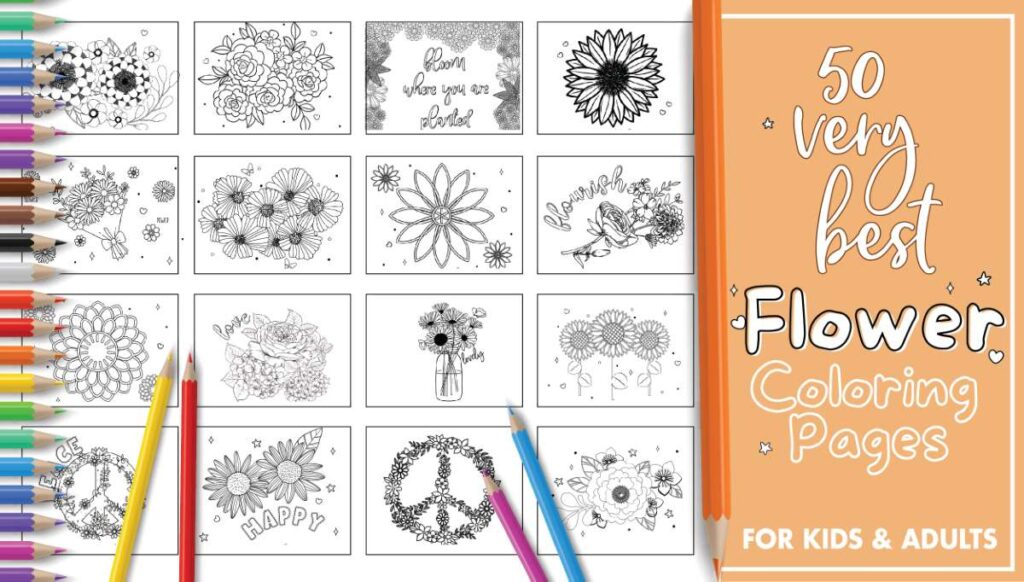Best Printable Flower Coloring Pages For Kids And Adults