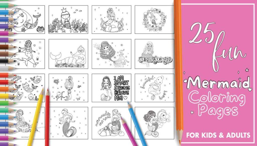 Best Printable Mermaid Coloring Pages