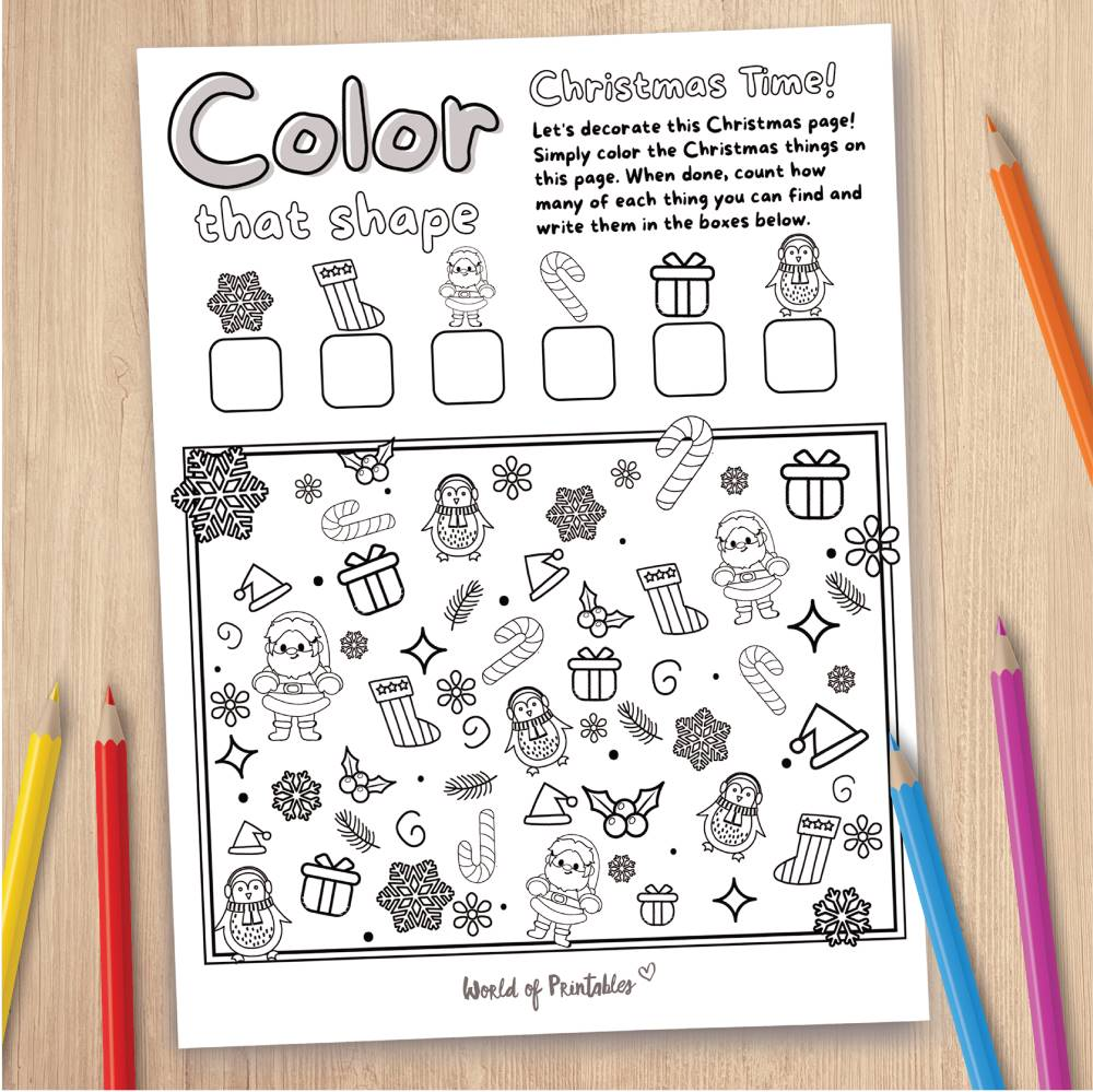 Christmas Coloring Page Game