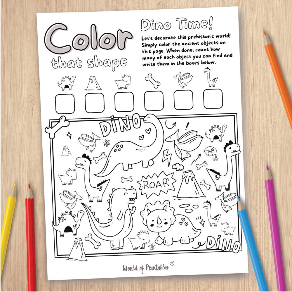 Dinosaur Coloring Page Game