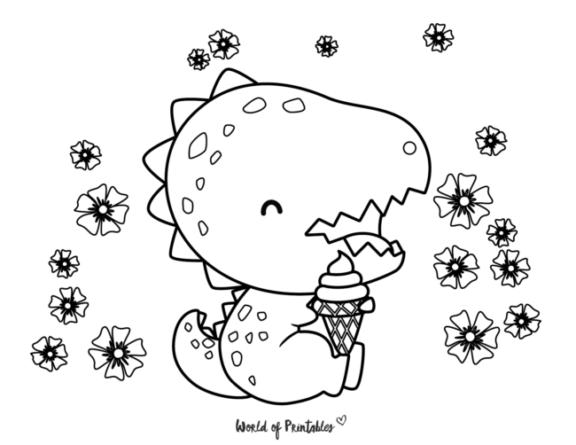 Dinosaur Coloring Pages - 13
