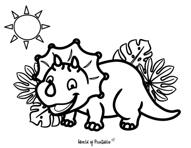 Dinosaur Coloring Pages - 14