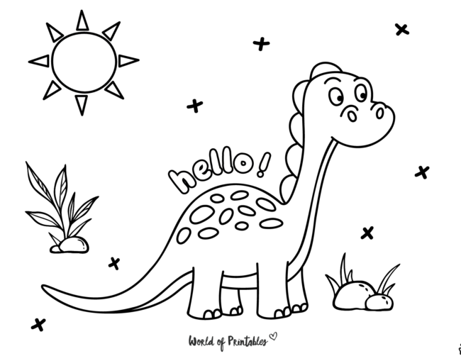 Dinosaur Coloring Pages - 24