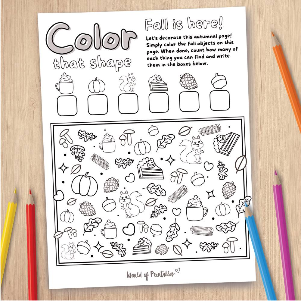 Fall Coloring Page Game
