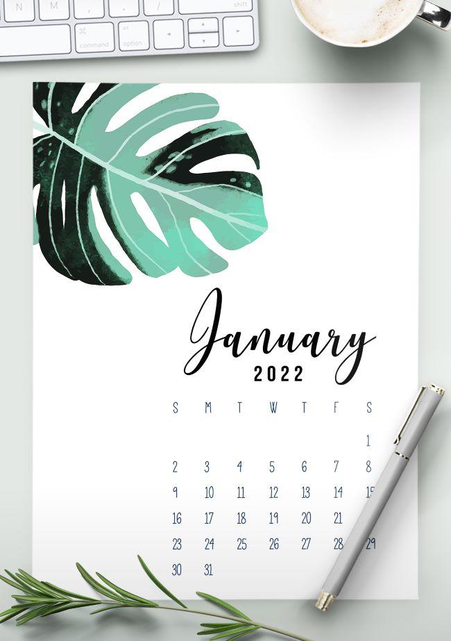 Free 2022 calendar printable pdf