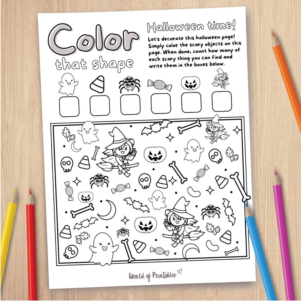 Halloween Coloring Page Game