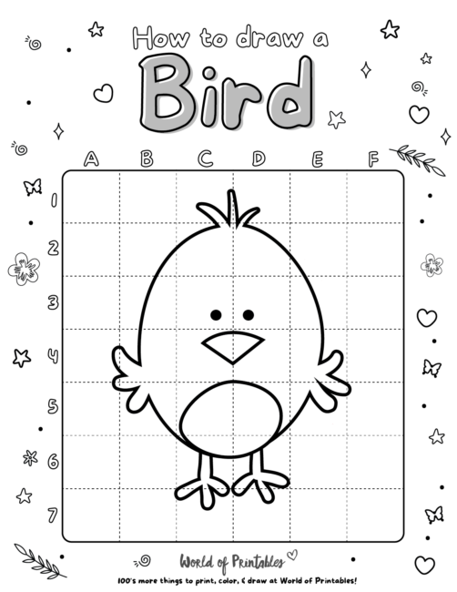 How To Draw A Bird 1
