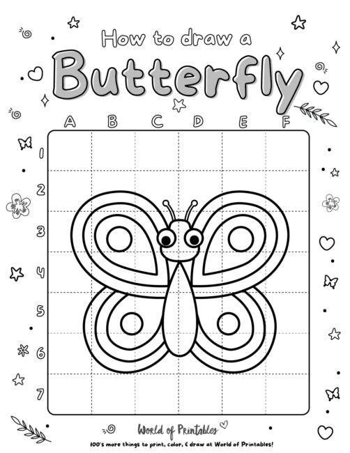 How To Draw A Butterfly 2