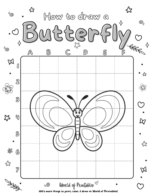 How To Draw A Butterfly 3