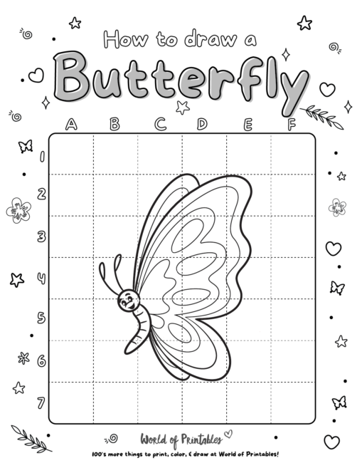 How To Draw A Butterfly 4