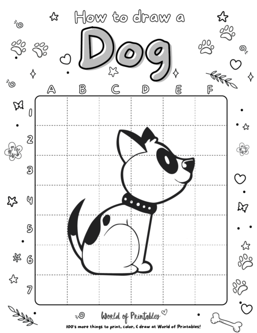 How To Draw A Dog 6