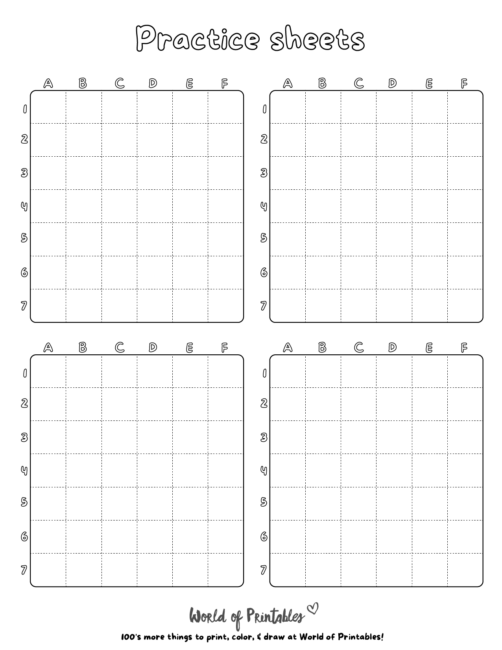 How To Draw Practice Grids