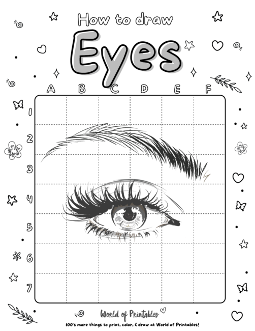How To Draw a Eyes 3